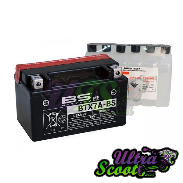 Battery Bs YTX7A-BS (BTX7A-BS) 7AMP