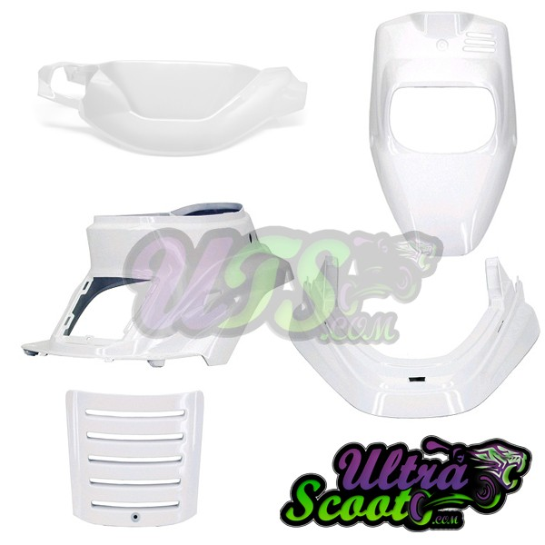 Body Kit Cover Yamaha Bw's R / Zuma 96-02 White Tnt