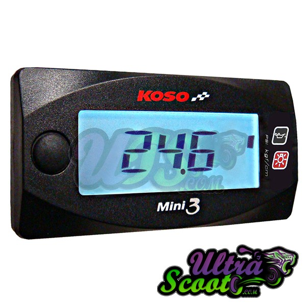 Fuel/Air Meter Koso Mini 3