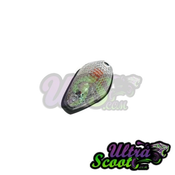 Flasher Tear Drop Clear Lens Ms24
