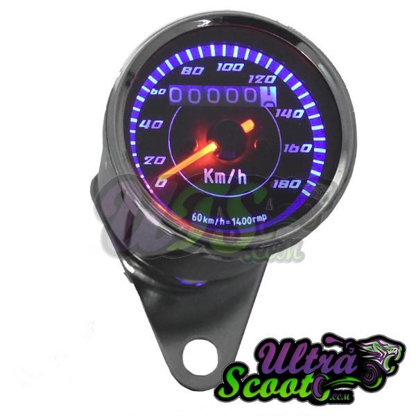 Speedometer Chrome & Blue light MS24