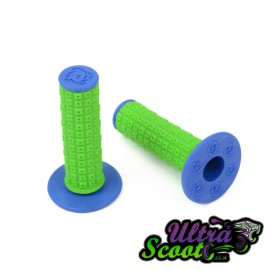 Handlebar Grips Torc1 Enduro MX Green/Blue