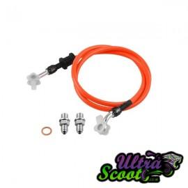 Brake Hose Ncy Braided Orange 85CM