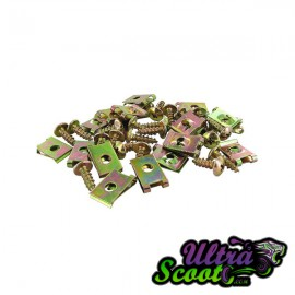 Clip & Body Screw M5x15mm 20pcs Tnt