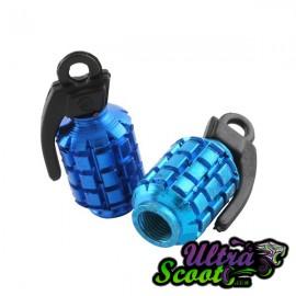 Valve caps STR8 Grenade Bleu